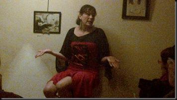 La conteuse Mylène Lavoie dans le spectacle Touski Conte